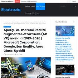 9 février - Aperçu du marché Réalité augmentée et virtuelle (AR VR) mondial 2019-2026