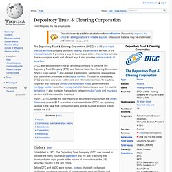 Depository Trust & Clearing Corporation