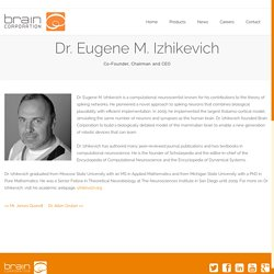 Dr. Eugene M. Izhikevich
