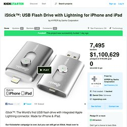 iStick™: USB Flash Drive with Lightning for iPhone and iPad by HYPER by Sanho Corporation