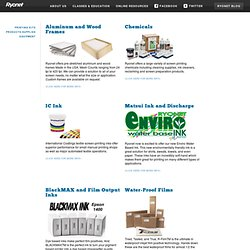 Corporation - Silk screen printing supplies, silk screen printing products, silk screen printing supply.