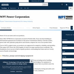 WPT Power Corporation - Offshore Technology