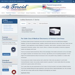 Toroid Corporation > Transformer Products > IsoBox Transformers > Domestic C-Series
