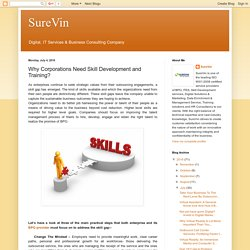 SureVin: Why Corporations Need Skill Development and Training?
