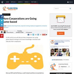 More Corporations are Going Game-based