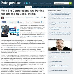 Why Big Corporations Are Putting the Brakes on Social Media | Blog | Daily Dose