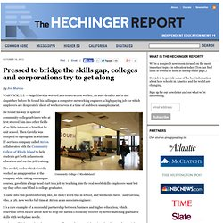 Pressed to bridge the skills gap, colleges and corporations try to get along