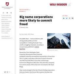 Big name corporations more likely to commit fraud
