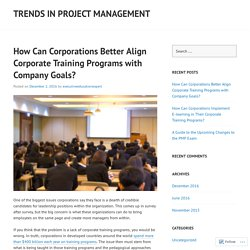 How Can Corporations Better Align Corporate Training Programs with Company Goals?