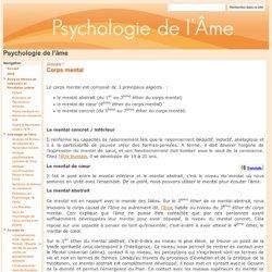 Corps mental - Psychologie de l'âme