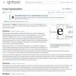 Corps (typographie)