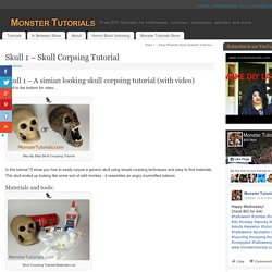 Skull 1 – Skull Corpsing Tutorial – Monster Tutorials