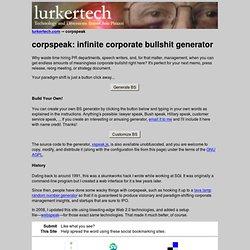 corpspeak - lurkertech.com