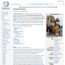 corpus domini cristianesimo