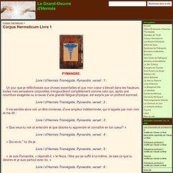 Corpus Hermeticum Livre 1 - Le Grand-Oeuvre d'Hermès
