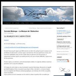 Corrado Malanga – La Marque del'Abduction