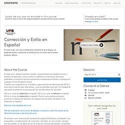 Corrección y Estilo en Español