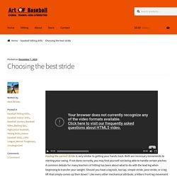 Art of Baseball: Bat Speed and Hitting Drills tips