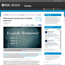 What are the correct rules of English grammar?