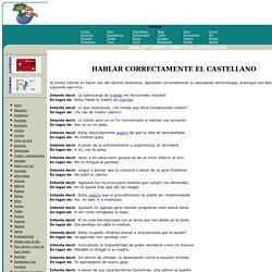 HABLAR CORRECTAMENTE EL CASTELLANO