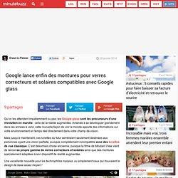 Google lance enfin des montures pour verres correcteurs et solaires compatibles avec Google glass