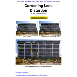 Correcting Lens Distortion