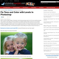 Correcting Tone And Color With Levels In Photoshop