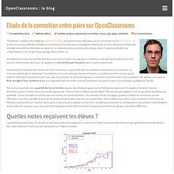 Etude de la correction entre pairs sur OpenClassrooms