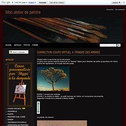 CORRECTION COURS VIRTUEL 4: PEINDRE DES ARBRES - atelier portrait pastel aquarelle visages dessin regard