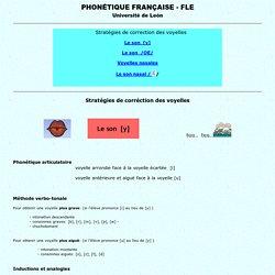 correction des voyelles, FLE, prononciation, stratégies