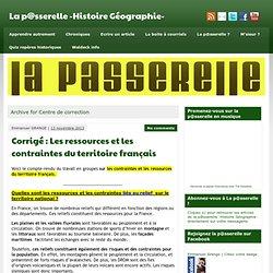 Centre de correction » La p@sserelle -Histoire Géographie-