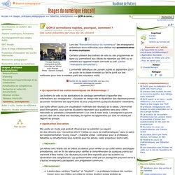 QCM à corrections rapides- Usages du numérique éducatif