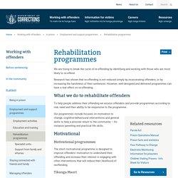 Corrections Department NZ - Rehabilitation programmes