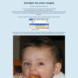 Corrections des yeux rouges avec le GIMP