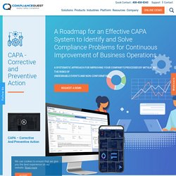 What is CAPA - Corrective and Preventive Action? CAPA Management