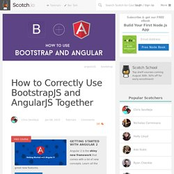 How to Correctly Use BootstrapJS and AngularJS Together