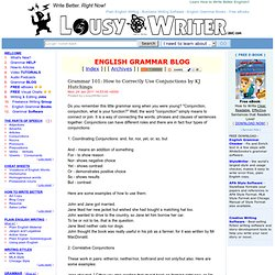 how to use conjunctions in english grammar pdf