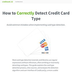 How to correctly detect credit card type