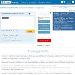 Corrector online de ortografía y de gramática - inglés - Reverso