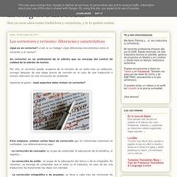 El blog de PLR TRAD : Los correctores y revisores: diferencias y características
