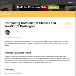 Correlating CoffeeScript Classes and JavaScript Prototypes