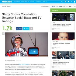 Study Shows Correlation Between Social Buzz and TV Ratings