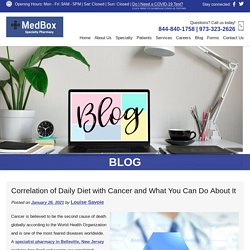 Correlation of Daily Diet with Cancer and What You Can Do About It