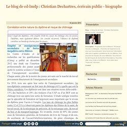 Corrélation entre nature du diplôme et risque de chômage - Le blog de cd-lmdp : Christian Dechartres, écrivain public - biographe
