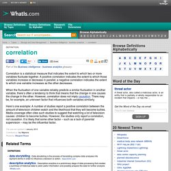 What is correlation? - Definition from WhatIs.com