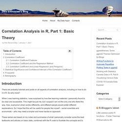 Correlation Analysis in R, Part 1: Basic Theory – Data Enthusiast's Blog