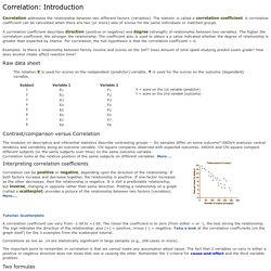 Correlation: Introduction