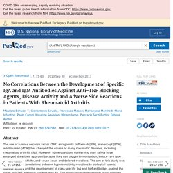 No Correlations Between the Development of Specific IgA and IgM Antibodies Against Anti-TNF Blocking Agents, Disease Activity and Adverse Side Reactions in Patients With Rheumatoid Arthritis - PubMed