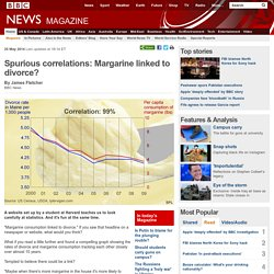 Spurious correlations: Margarine linked to divorce?