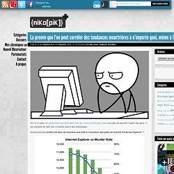 La preuve que l'on peut corréler des tendances meurtrières à n'importe quoi, même à Internet Explorer